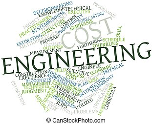 Cost engineering - Abstract word cloud for Cost engineering...