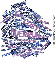 Cost overrun - Abstract word cloud for Cost overrun with...