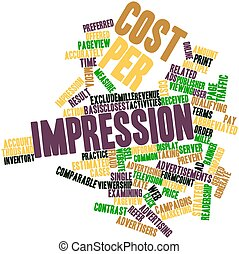 Cost per impression - Abstract word cloud for Cost per...