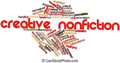 Creative nonfiction - Abstract word cloud for Creative...