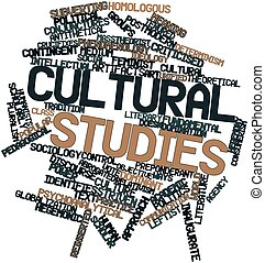 Cultural studies - Abstract word cloud for Cultural studies...