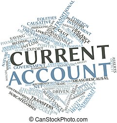 Current account - Abstract word cloud for Current account...
