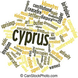 Cyprus - Abstract word cloud for Cyprus with related tags...