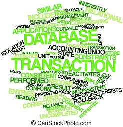 Database transaction - Abstract word cloud for Database...