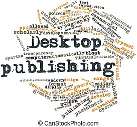 Abstract word cloud for Desktop publishing with related tags and terms