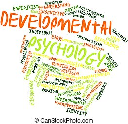 Developmental psychology - Abstract word cloud for...