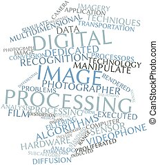 Digital image processing - Abstract word cloud for Digital...