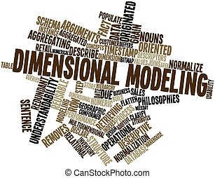 Dimensional modeling - Abstract word cloud for Dimensional...