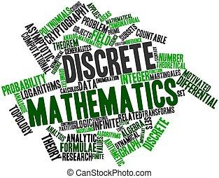 Discrete mathematics - Abstract word cloud for Discrete ...