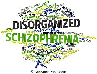 Disorganized schizophrenia - Abstract word cloud for...