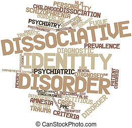 Dissociative identity disorder - Abstract word cloud for...