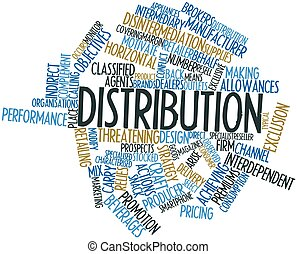 Distribution - Abstract word cloud for Distribution with ...