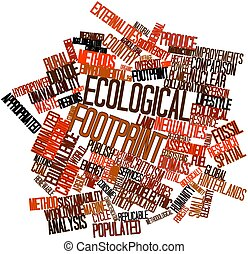 Abstract word cloud for Ecological footprint with related tags and terms