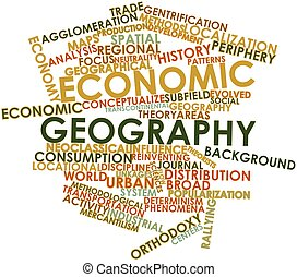 Economic geography - Abstract word cloud for Economic...