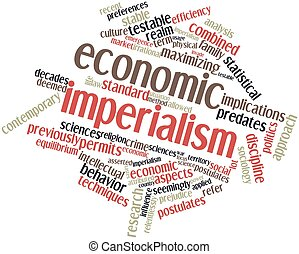 Economic imperialism - Abstract word cloud for Economic...