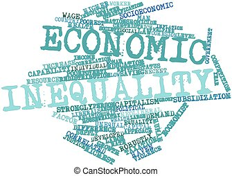 Economic inequality - Abstract word cloud for Economic...