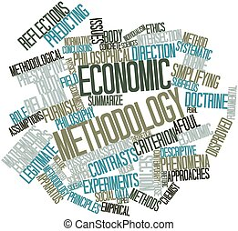 Economic methodology - Abstract word cloud for Economic...