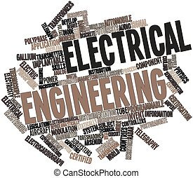 Abstract word cloud for Electrical engineering with related tags and terms