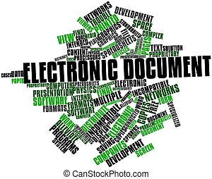 Electronic document - Abstract word cloud for Electronic...