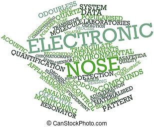 Electronic nose - Abstract word cloud for Electronic nose...