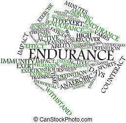 Abstract word cloud for Endurance with related tags and terms