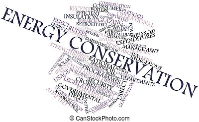 Energy conservation - Abstract word cloud for Energy...
