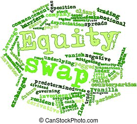 Abstract word cloud for Equity swap with related tags and terms