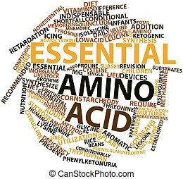 Essential amino acid - Abstract word cloud for Essential...