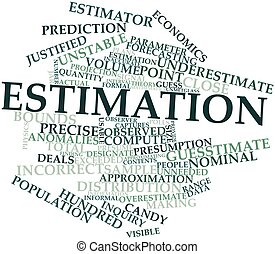 Estimation - Abstract word cloud for Estimation with related...