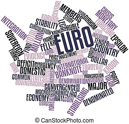 Euro - Abstract word cloud for Euro with related tags and...