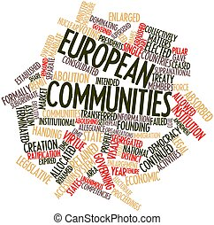 European Communities - Abstract word cloud for European...