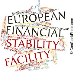 European Financial Stability Facility - Abstract word cloud...
