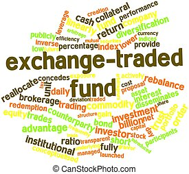 Abstract word cloud for Exchange-traded fund with related tags and terms