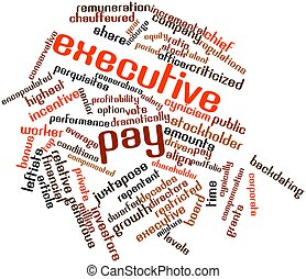 Executive pay - Abstract word cloud for Executive pay with...