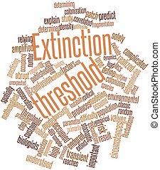 Extinction threshold