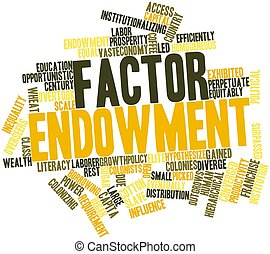 Factor endowment - Abstract word cloud for Factor endowment...
