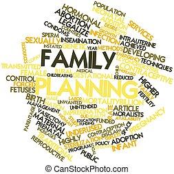 Family planning - Abstract word cloud for Family planning...