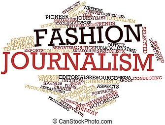 Fashion journalism - Abstract word cloud for Fashion...