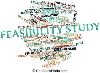 Feasibility study - Abstract word cloud for Feasibility...