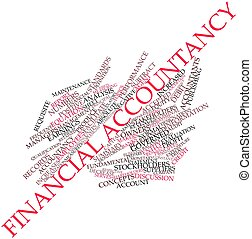 Financial accountancy - Abstract word cloud for Financial...