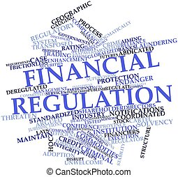 Abstract word cloud for Financial regulation with related tags and terms
