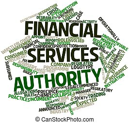 Financial Services Authority - Abstract word cloud for...