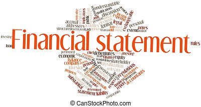 Abstract word cloud for Financial statement with related tags and terms