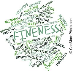 Fineness - Abstract word cloud for Fineness with related...