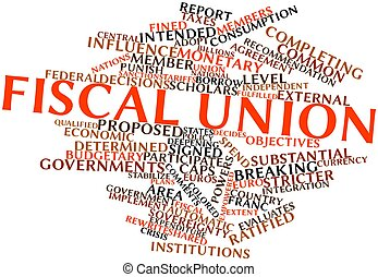 Fiscal union - Abstract word cloud for Fiscal union with...
