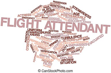 Flight attendant - Abstract word cloud for Flight attendant...