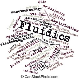 Fluidics - Abstract word cloud for Fluidics with related...