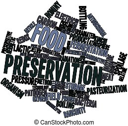 Food preservation - Abstract word cloud for Food...