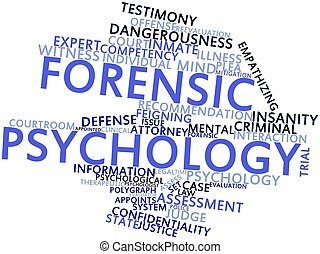 Forensic psychology - Abstract word cloud for Forensic...