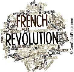 French Revolution - Abstract word cloud for French...